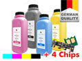 Refill-Toner Set + 4 Chips für DELL C 3760/3765