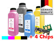 4er Refill-Toner Set + 4 Chips für DELL 2135 C
